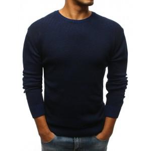 Elegantní pánský svetr tmavě modré barvy