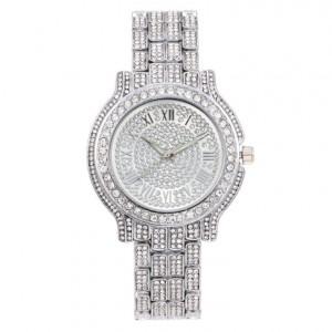 Luxusní dámské náramkové hodinky stříbrné se zirkony