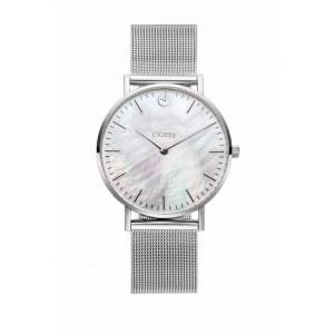 Elegantní dámské hodinky na ruku stříbrné s kovovým řemínkem