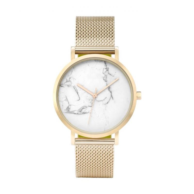 f6f000193a6 Dámské zlaté náramkové hodinky s potiskem mramoru v ciferníku
