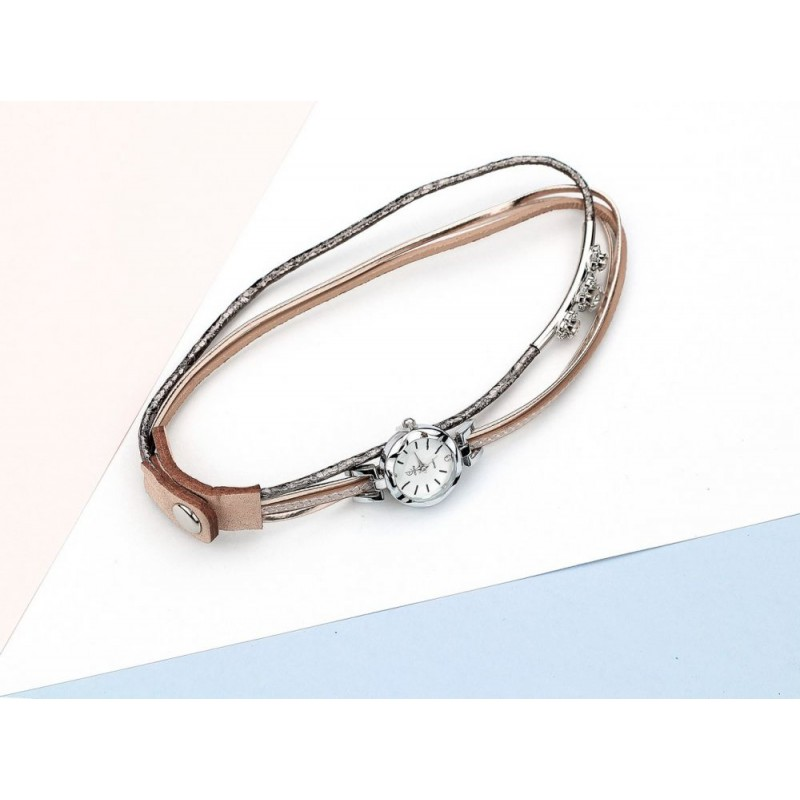 c97eefe6d Stylové dámské hodinky s trendy růžovým metalickým řemínkem