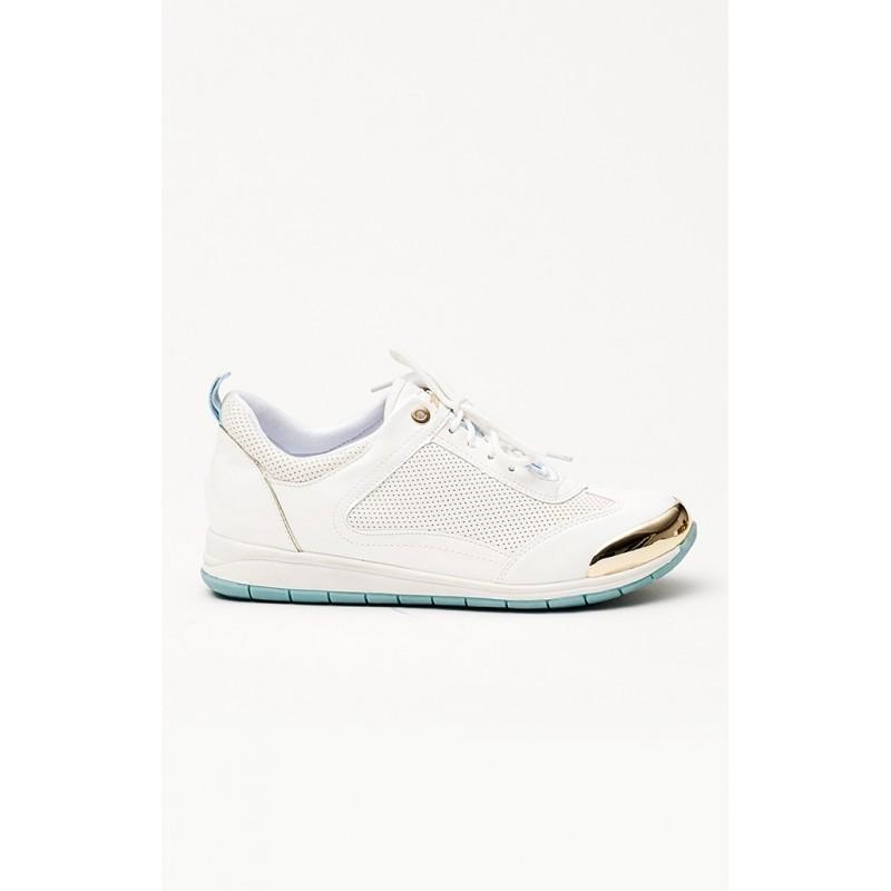 ... obuv Moderní bílé dámské tenisky s elegantní zlatou špičkou. Předchozí e9c1060c7c