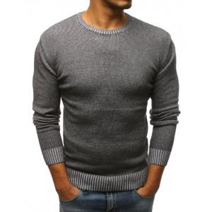Pánský jarní svetr tmavě šedé barvy