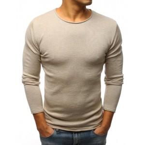 Jarní tenký svetr pro pány v béžové barvě