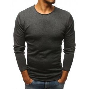 Tmavě šedý jarní svetr pro pány
