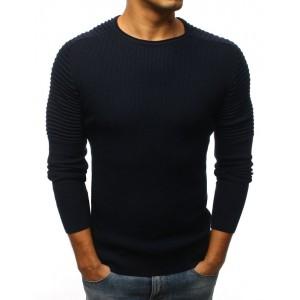 Pánský elegantní svetr tmavě modré barvy