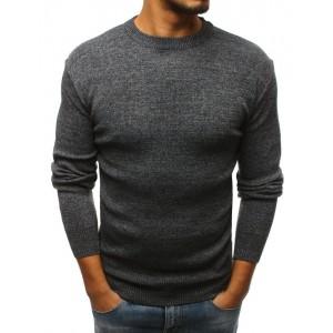 Pánský pulovr tmavě šedé barvy na jaro