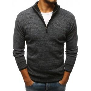 Pánský svetr s vysokým límcem a zipem