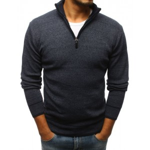 Moderní pánský svetr s vysokým límcem