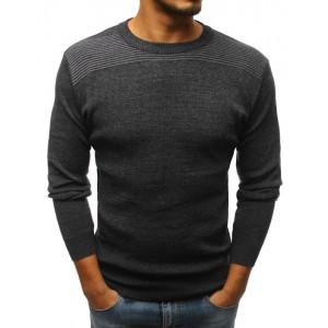 Tmavě šedý společenský svetr pro pány