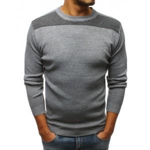 Pánský vlněný svetr šedé barvy