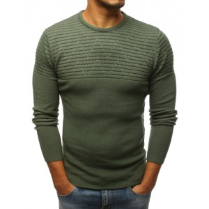 Moderní pánský pulovr zelené barvy