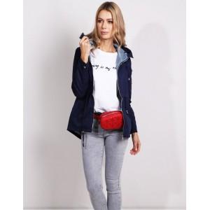 COOL STREET dámská tmavě modrá přechodná bunda s kapucí
