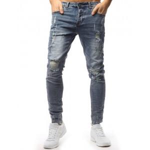 Roztrhané džíny pánské střihu slim fit