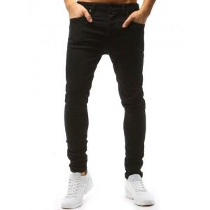 Černé jeansy pánské střihu slim fit