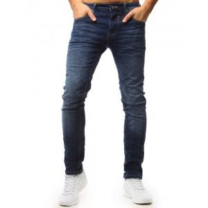 Klasické moderní kalhoty pánské modré barvy