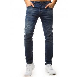 Moderní roztrhané džíny modré barvy pro pány