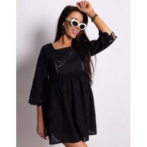 Černé romantické krátké šaty dámské
