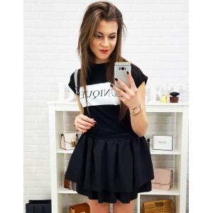 Dámské triko s krátkým rukávem v černé barvě