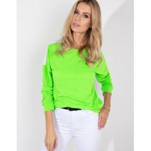 Zelená mikina bez kapuce pro dámy