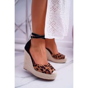 Extravagantní dámské letní sandály s leopardím vzorem