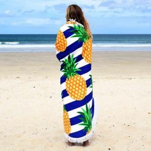 Kvalitní osuška na pláž v motivu ananasů
