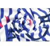 Kulatá bavlněná osuška na pláž v modré barvě
