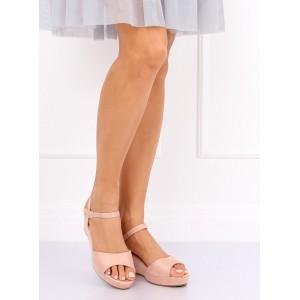Dámské platformové růžové sandálky na léto