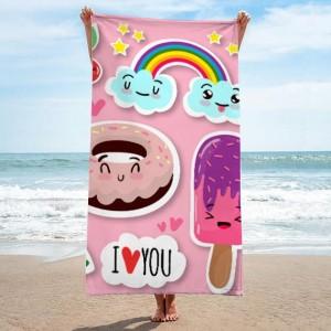 Růžový kvalitní ručník s pohádkovým motivem