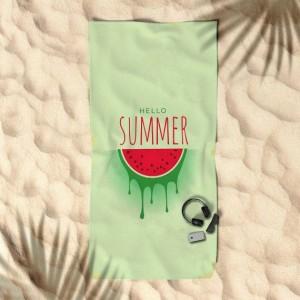 Ručník v zelené barvě 170x90 s melounem