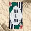 Ručník slunce a zábava na pláž