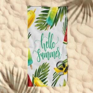 Bílý ručník s letním motivem