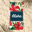 Plážový ručník s pozadím květů