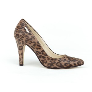 Dámské kožené leopardí lodičky na vysokém podpatku