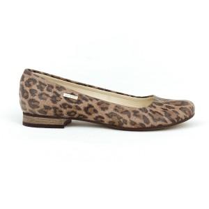Dámské kožené baleríny s leopardím vzorem