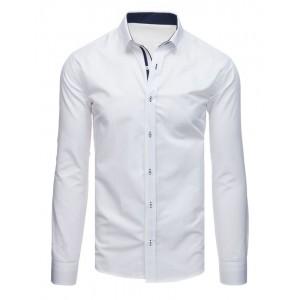 Elegantní bílá košile s dlouhým rukávem do obleků