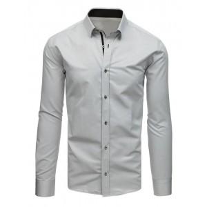 Pánská košile společenská slim střihu v šedé barvě