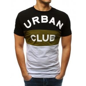 Pánské městské tričko v troj kolore s krátkým rukávem