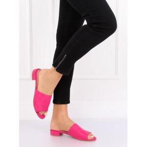 Dámské letní pantofle v růžové barvě
