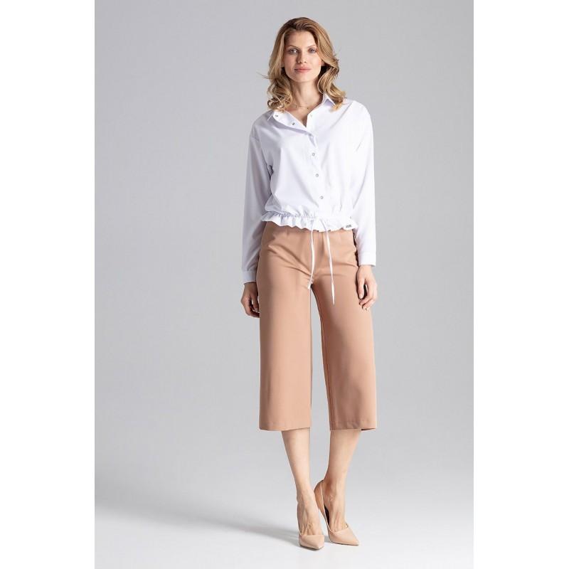 2d341acb7834 Stylová dámská bílá halenka košilového střihu módního designu