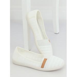 Bílé dámské nasouvací baleríny klasického módního designu