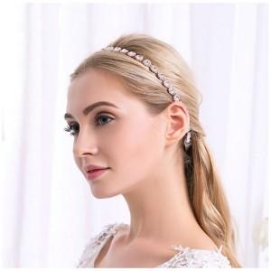 Dámská svatební čelenka s krystalky