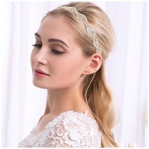 Korunka do vlasů na svatbu ve zlaté barvě