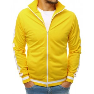 Pánská mikina na zip v žluté barvě