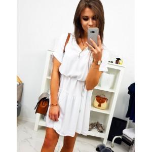 Bílé dámské krátké šaty na léto