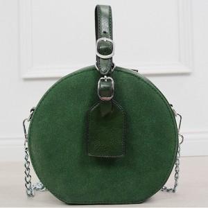 d93951815b Originální kulatá dámská smaragdově zelené crossbody kabelka