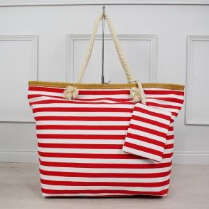 Námořnická bílo červená dámská taška na léto s ozdobným kapsou