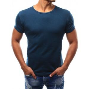 Tmavě modré pánské tričko s krátkým rukávem k různým outfitům