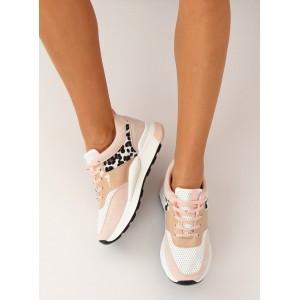 Dámská letní sportovní obuv v růžové barvě