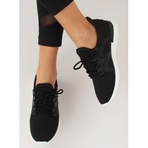 Pohodlná dámská sportovní obuv černé barvy